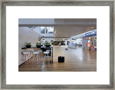 Sushi Bar In The Departure Area Framed Print by Jaak Nilson