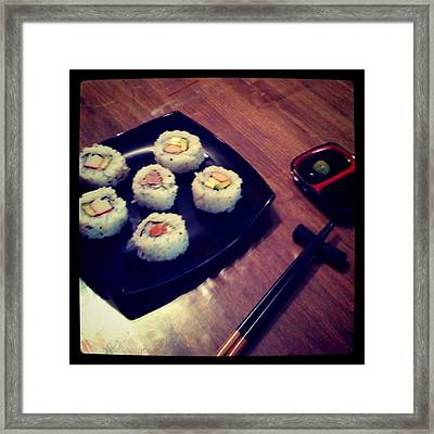 Sushi Framed Print by Pablo Grippo