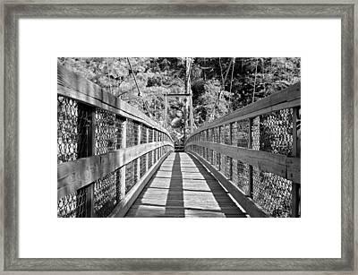 Suspension Bridge Framed Print by Susan Leggett