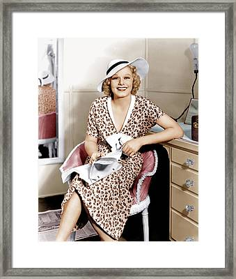 Suzy, Jean Harlow, 1936 Framed Print by Everett