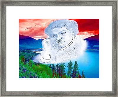 Swami Vivekananda Framed Print by Viveka Singh