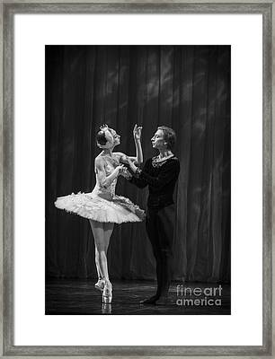 Swan Lake  White Adagio  Russia Framed Print by Clare Bambers