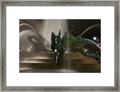 Swann Fountain At Night Framed Print by Bill Cannon