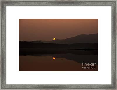 Swanson Harbor Sunset Framed Print by Darcy Michaelchuk