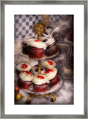 Sweet - Cupcake - How Much Is That Cake In The Window Framed Print by Mike Savad