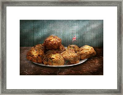 Sweet - Scone - Scones Anyone Framed Print by Mike Savad