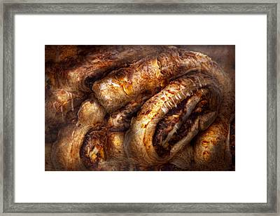 Sweet - Strudel - Almond Strudel Abstract Framed Print by Mike Savad