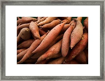 Sweet Potatoes Framed Print by Tanya Harrison
