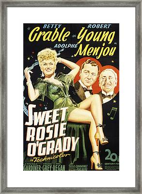 Sweet Rosie Ogrady, Betty Grable Framed Print by Everett