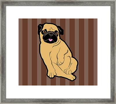 Sweetie Pug Framed Print by Mary Ogle