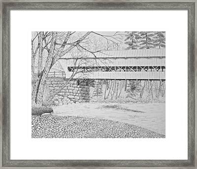 Swift River Bridge Framed Print by Tim Murray