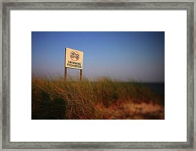 Swimming Prohibited Framed Print by Rick Berk
