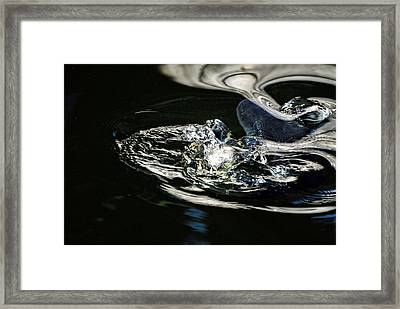 Swirling Water Framed Print by Don Mann