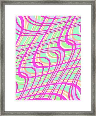 Swirly Check Framed Print by Louisa Knight