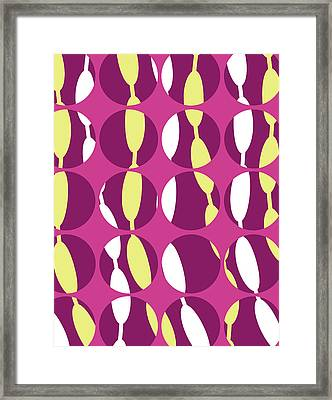 Swirly Stripe Framed Print by Louisa Knight