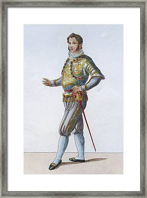 Swiss Guard Captain Framed Print by Hulton Archive