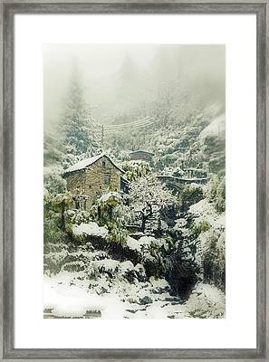 Switzerland In Winter Framed Print by Joana Kruse
