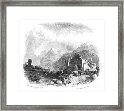 Switzerland: Villeneuve Framed Print by Granger