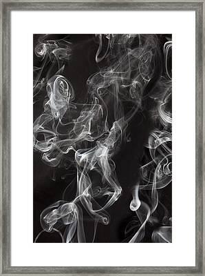 Swriling Smoke  Framed Print by Garry Gay