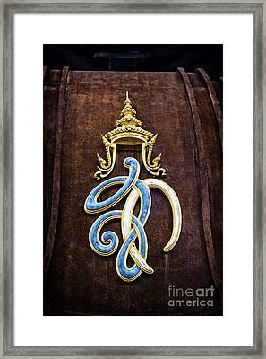 Symbol Framed Print by Thanh Tran