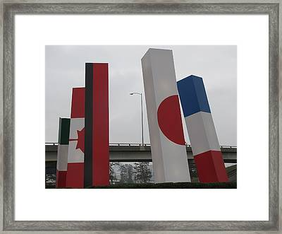 Symbols Of Diversity Framed Print by Shawn Hughes