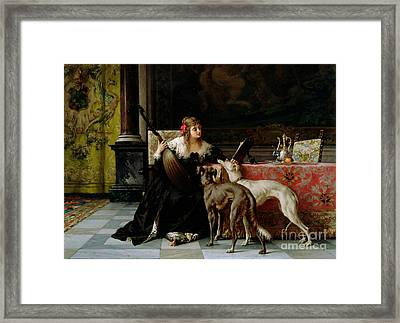 Sympathetic Friends Framed Print by Florent Willems