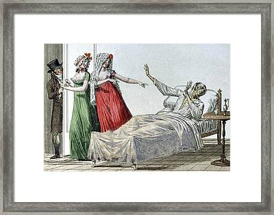 Syphilitic Man, 19th Century Artwork Framed Print by Cci Archives