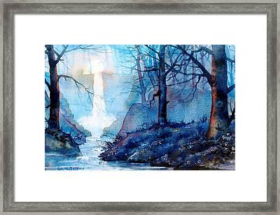 Syvan Spout Framed Print by Glenn Marshall