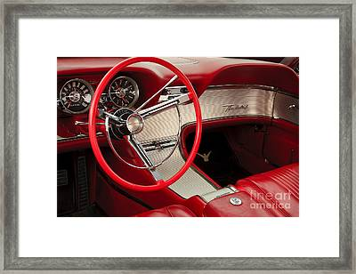 T-bird Interior Framed Print by Dennis Hedberg