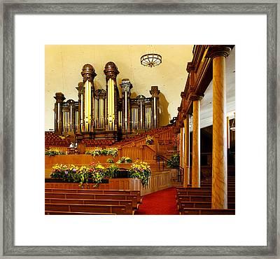 Tabernacle Pipe Organ Framed Print by Marilyn Hunt