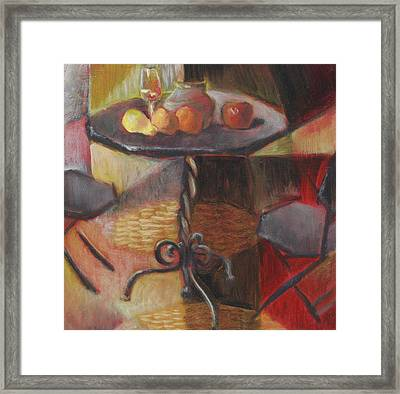 Table And Chairs Framed Print by Roger Clark