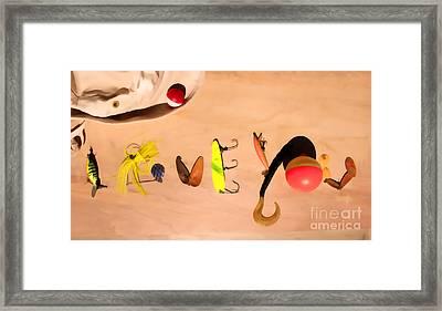 Tacklebox I Love You Framed Print by Cathy  Beharriell