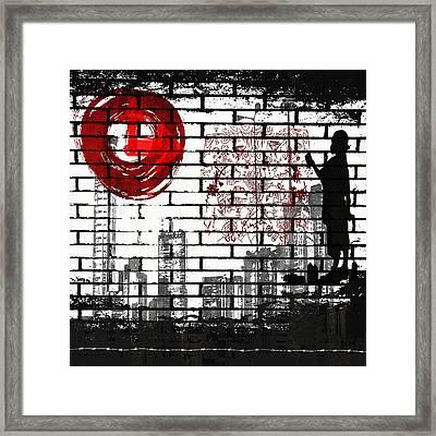 Tag Framed Print by Angelina Vick