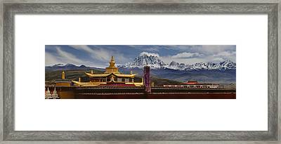 Tagong Si Monastery Buddhist Temple Framed Print by Phil Borges