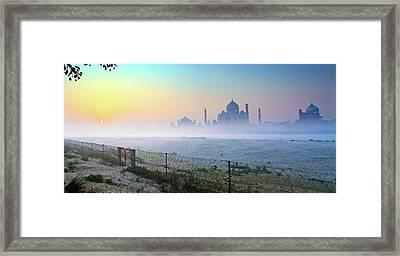 Taj At Dawn Framed Print by Dr. Satyaki Basu Photography