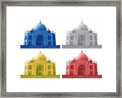 Taj Mahal Colorful Style Framed Print by Atthamee Ni