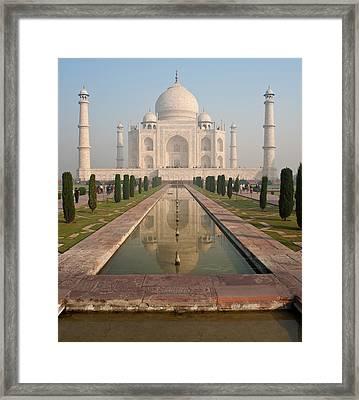 Taj Mahal Reflected Framed Print by Mike Reid
