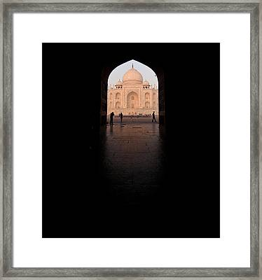 Taj Portal Framed Print by Mike Reid