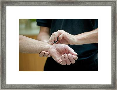 Taking A Pulse Framed Print by