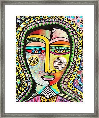 -talavera Virgin Of Guadalupe Miracles Framed Print by Sandra Silberzweig