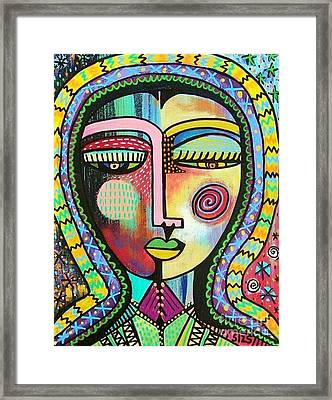 -talavera Virgin Of Guadalupe Protection Framed Print by Sandra Silberzweig