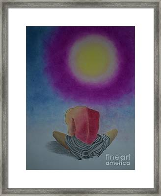 Talking With Sun Framed Print by Jalal Gilani