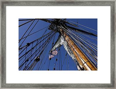 Tall Ship Rigging Framed Print by Garry Gay