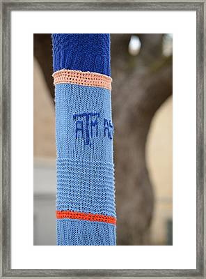 Tamu Astronomy Crocheted Lamppost Framed Print by Nikki Marie Smith