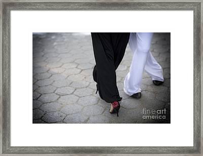 Tango Love Framed Print by Leslie Leda
