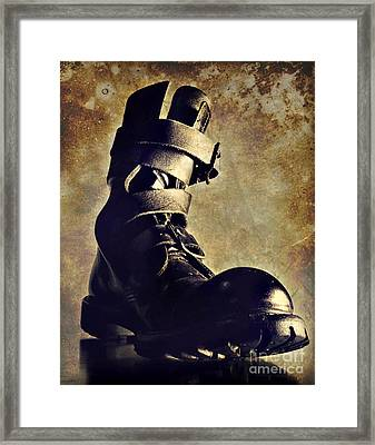 Tank Boot Framed Print by HD Connelly