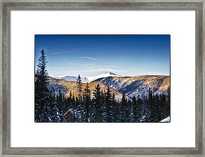 Taos Mountains Sunset  Framed Print by Lisa  Spencer