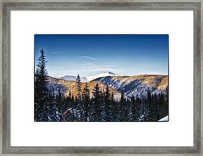 Taos Mountains Sunset  Framed Print by Lisa  Spencer