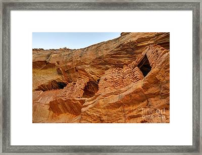 Target - Bulls Eye Anasazi Indian Ruins Framed Print by Gary Whitton