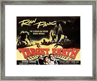 Target Earth, Bottom Center Kathleen Framed Print by Everett